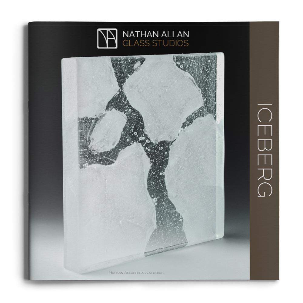 mock up brochures Iceberg glass