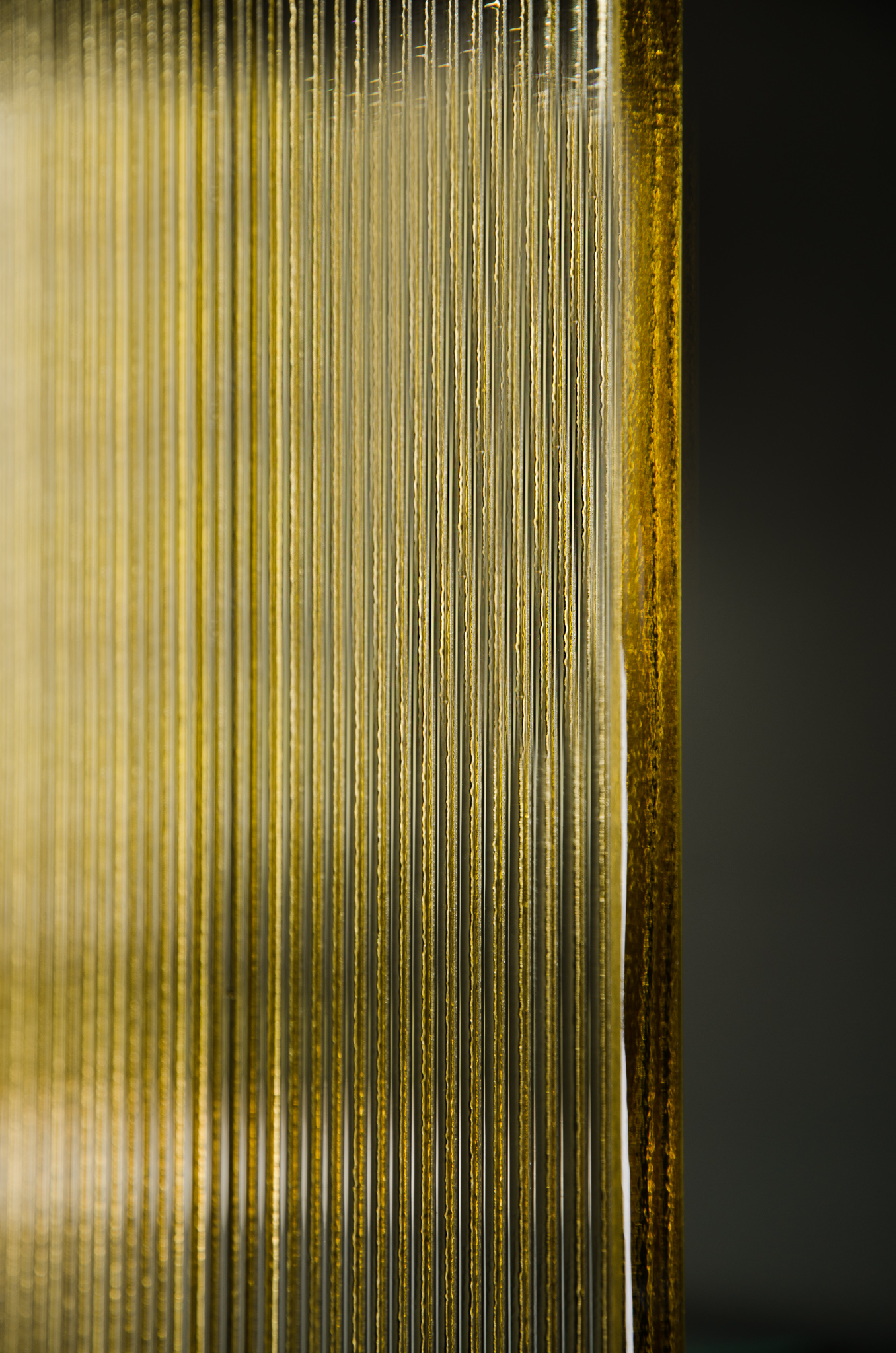 Fluted Amber Glass Example