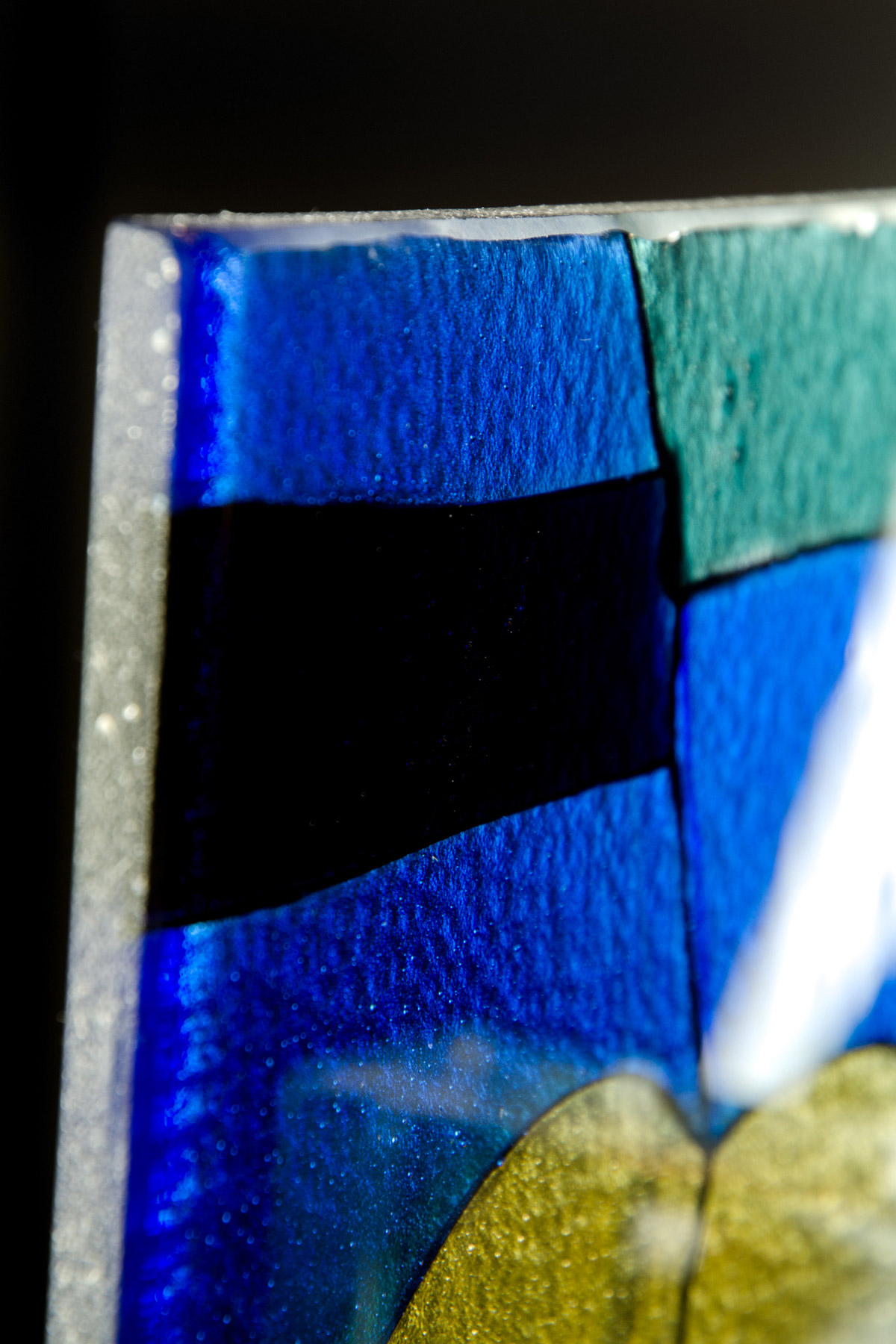 Kiln Formed Stained Glass Corner