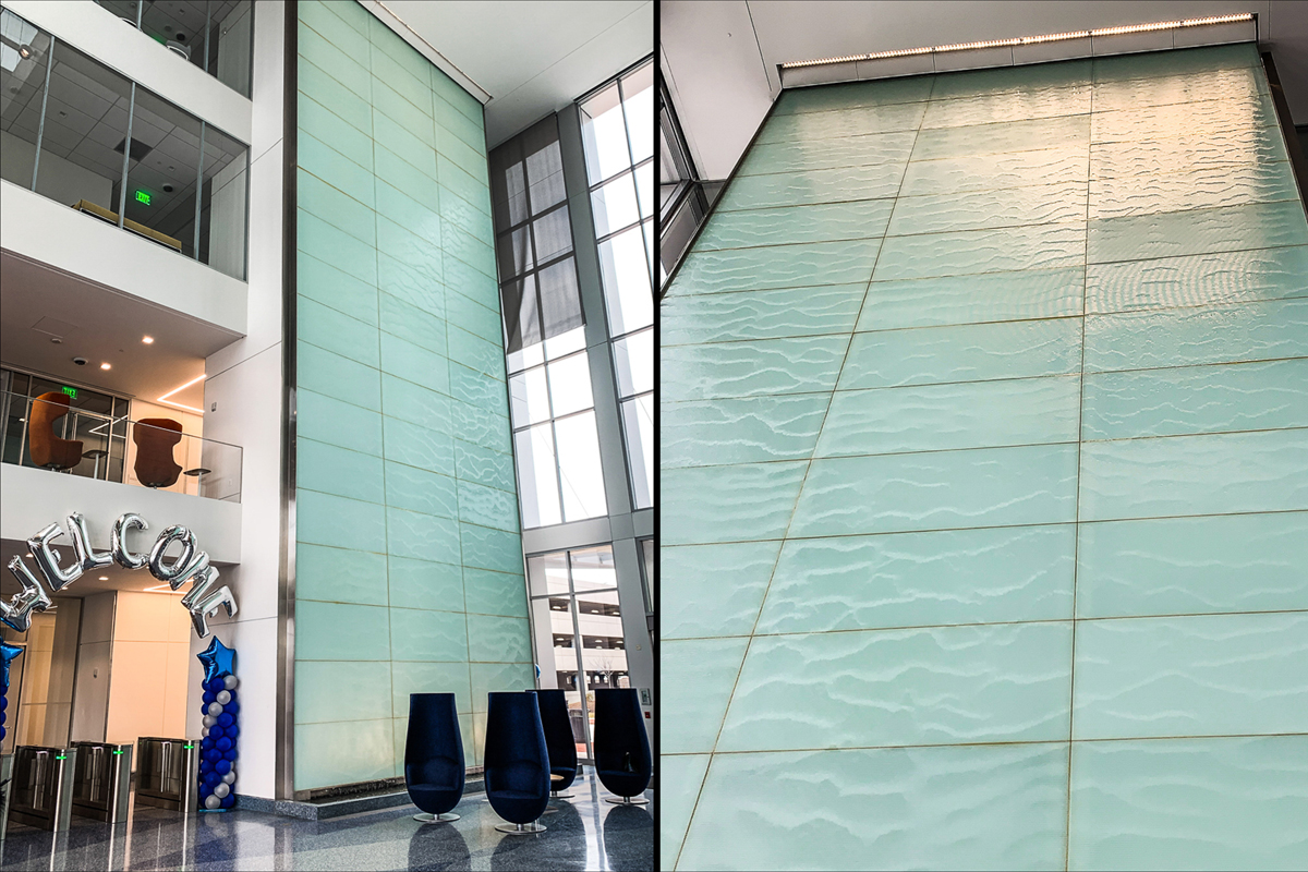 Linear Architectural Glass Waterwall