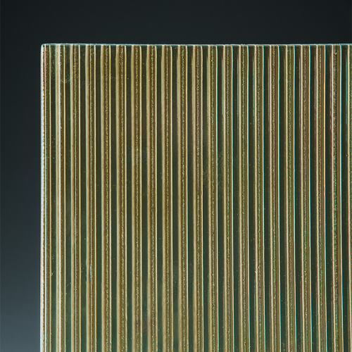 Fluted Champagne Architectural Cast Glass corner