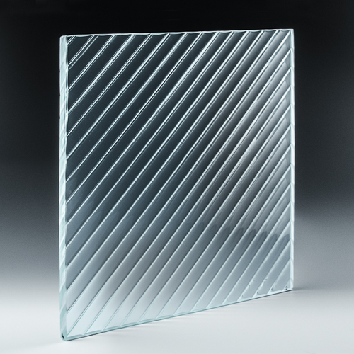 Channel Diagonal Architectural Cast Glass side