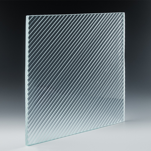 Fluted Diagonal Architectural Cast Glass