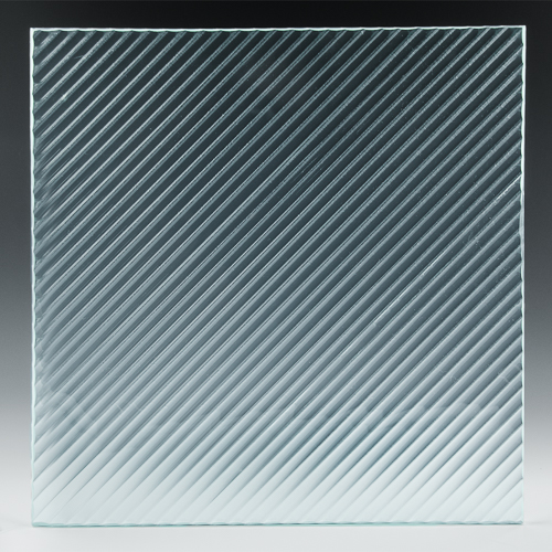 Fluted Diagonal Architectural Cast Glass 2