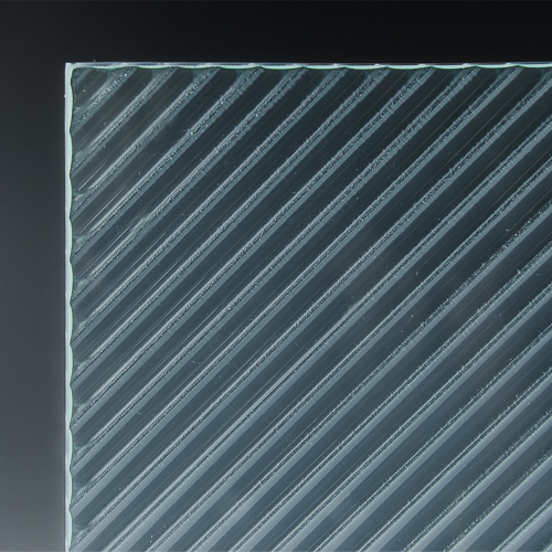Fluted Diagonal Architectural Cast Glass 3