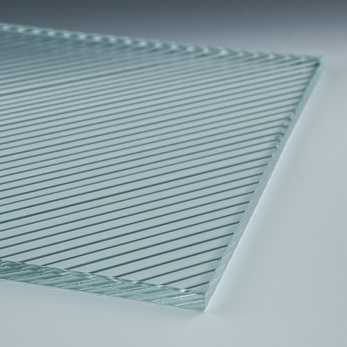 Fluted Diagonal Architectural Cast Glass 4