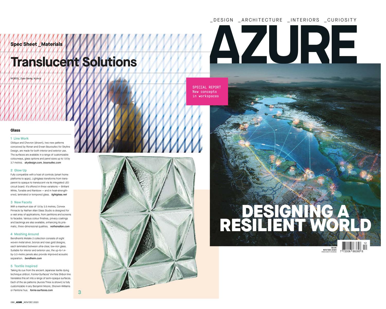 AZURE | Convex Pinnacle Glass