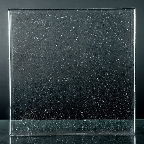Crystalline Clear Glass Front