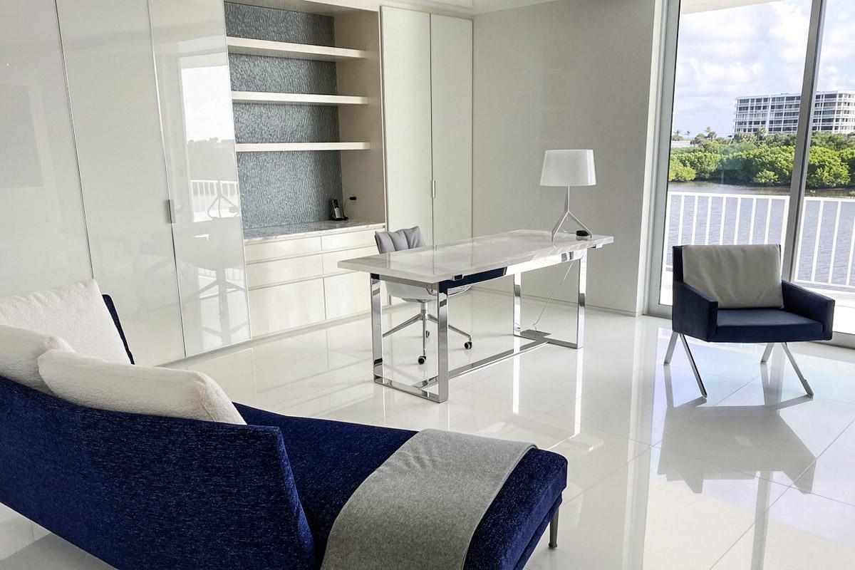 Iceberg Glass interior table
