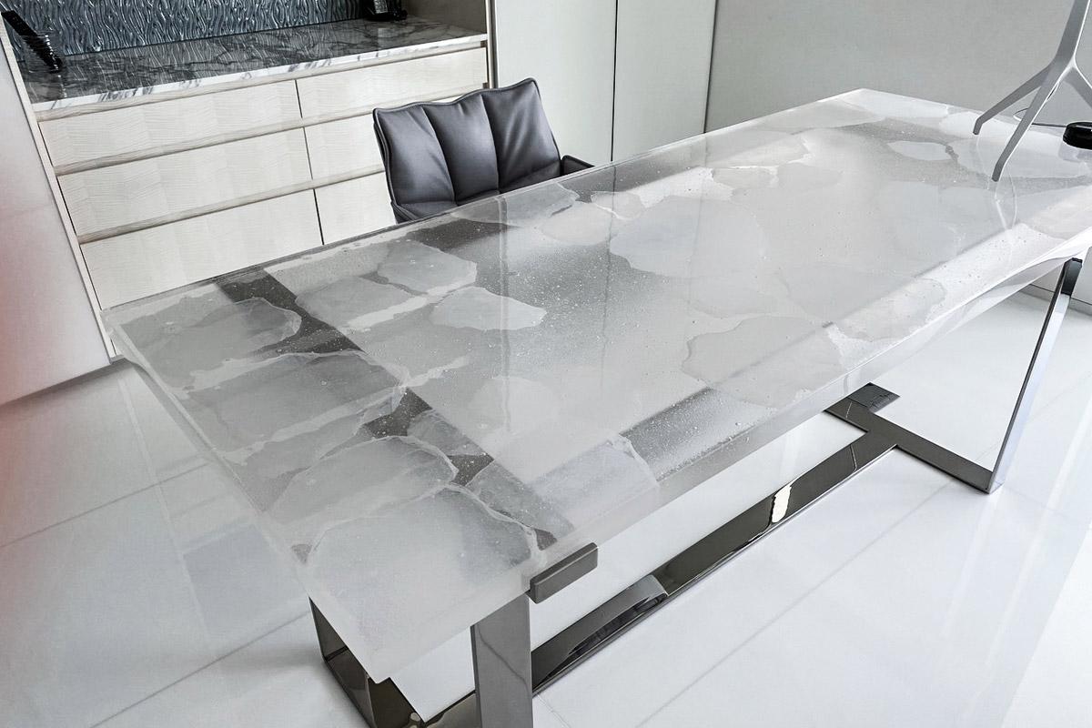 Iceberg Glass Office Desk