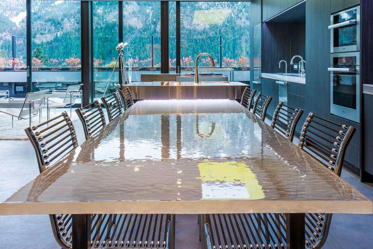 SJ RESIDENCE Glass Table