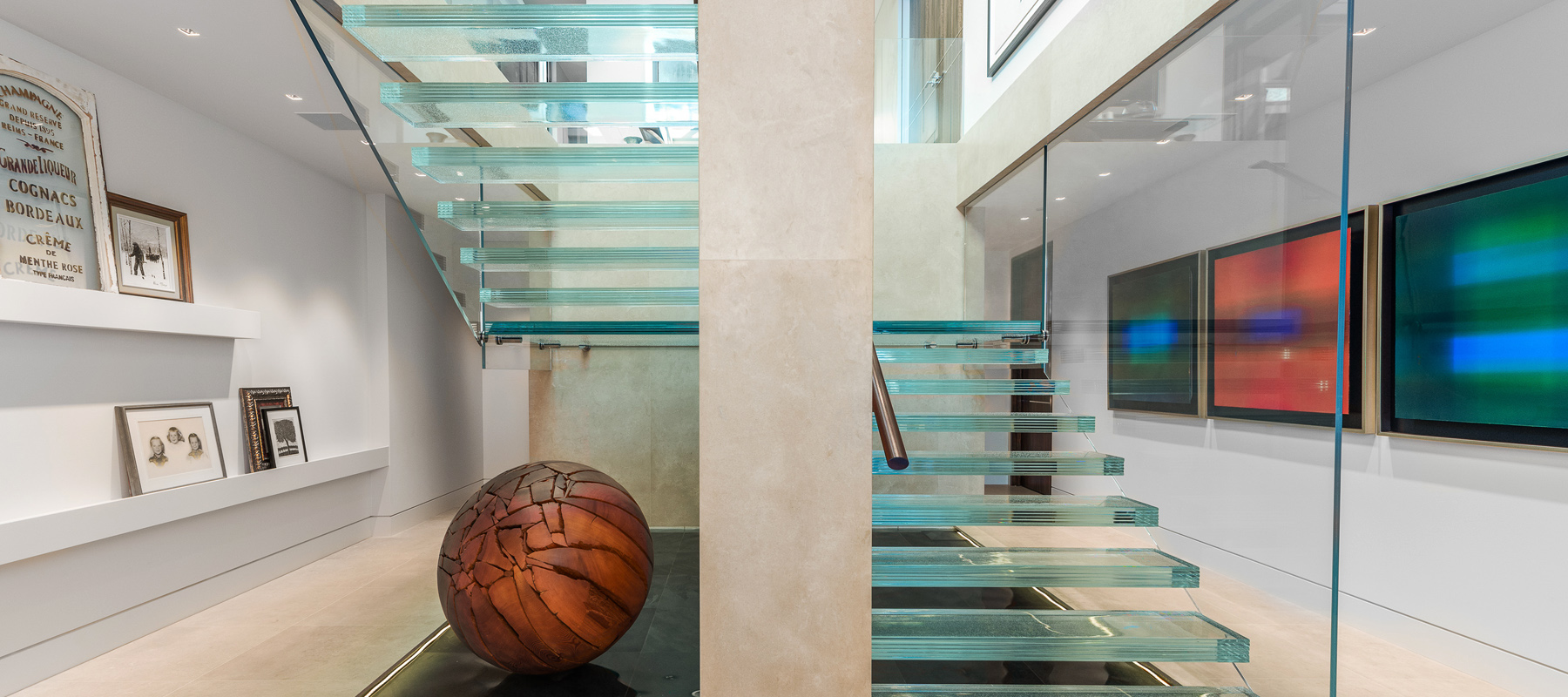 Architectural Glass Stairs Examples New York