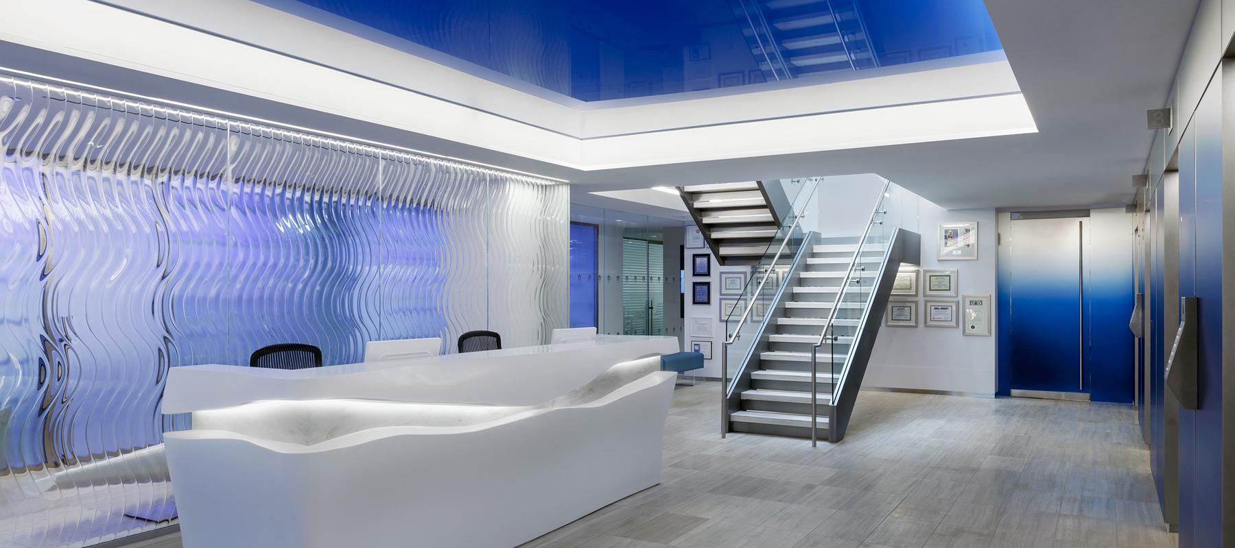 Los Angeles California Architectural Decorative Glass area